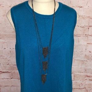 Layered cascade necklace
